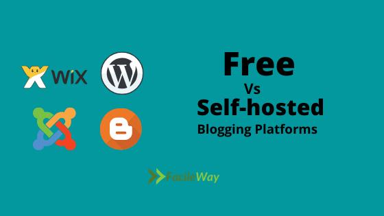 free or self-hosted blogging platforms