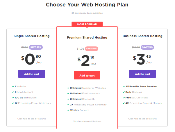 Hostinger best cheap web hosting plans