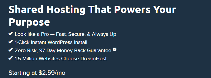 best cheap web hosting plans Dreamhost