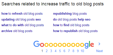 Increse traffic to old blog posts