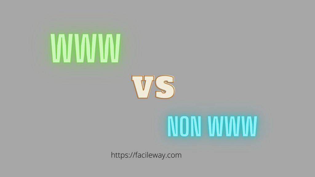 WWW Vs Non WWW