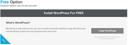 Install WordPress Free