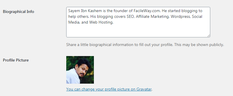 how to add an author bio box in WordPress Posts