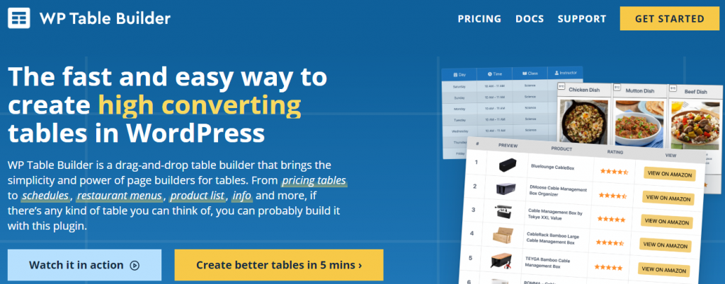 WP Table Builder Pro Review