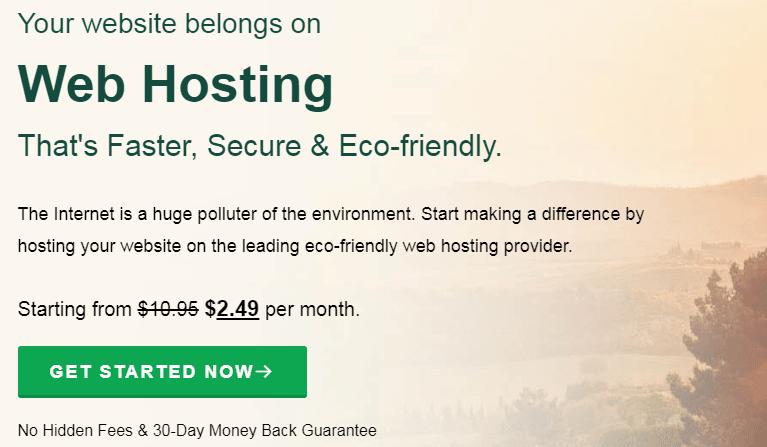 GreenGeeks Summer sale discount