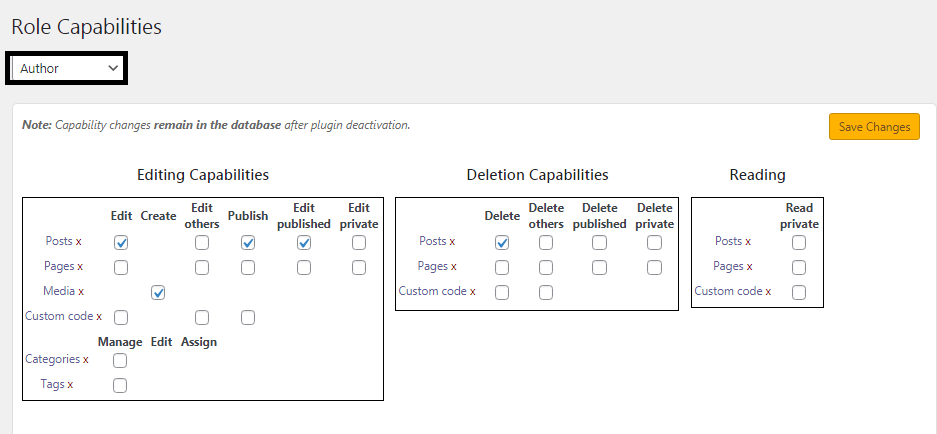 how to customize existing user roles