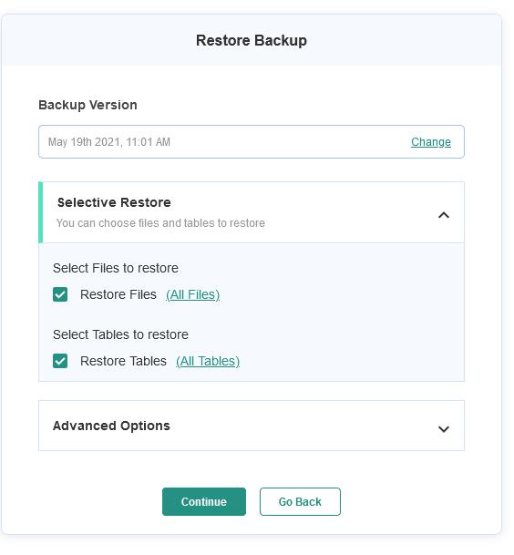BlogVault Restoration