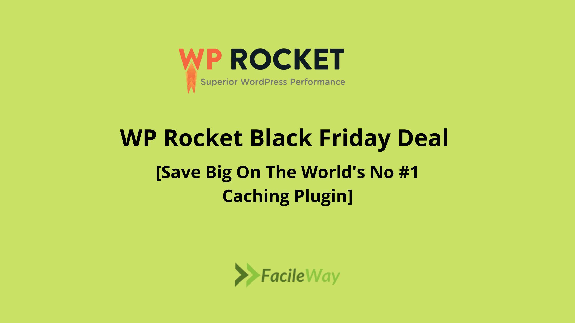 WP Rocket Black Friday Deal