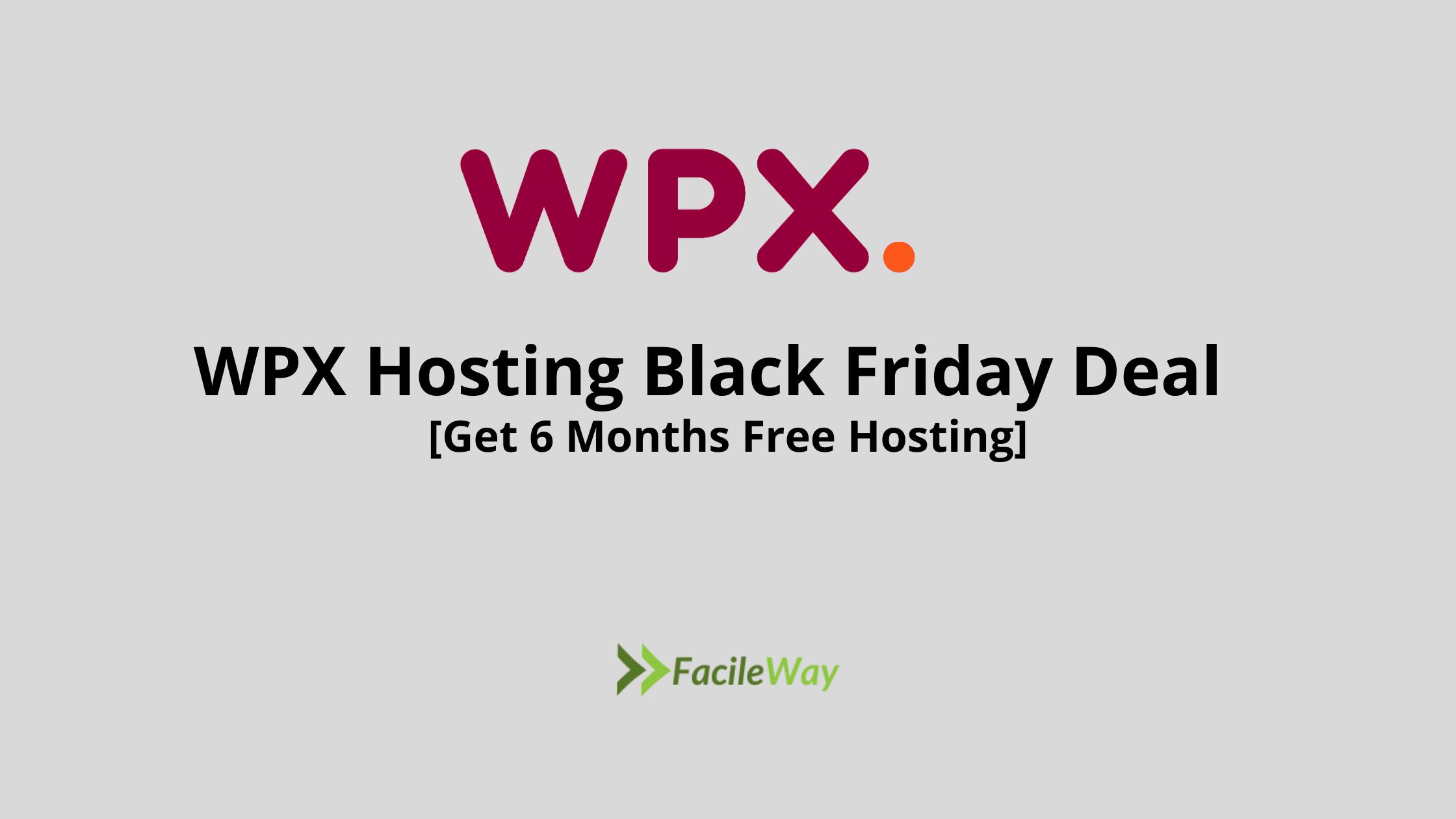 WPX Hosting Black Friday Deal
