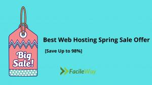 best web hosting spring sale offer