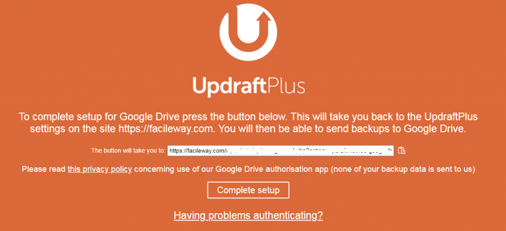 How to backup UpdraftPlus