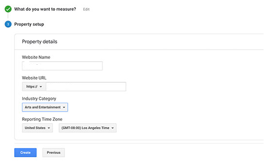 Google analytics account sign up