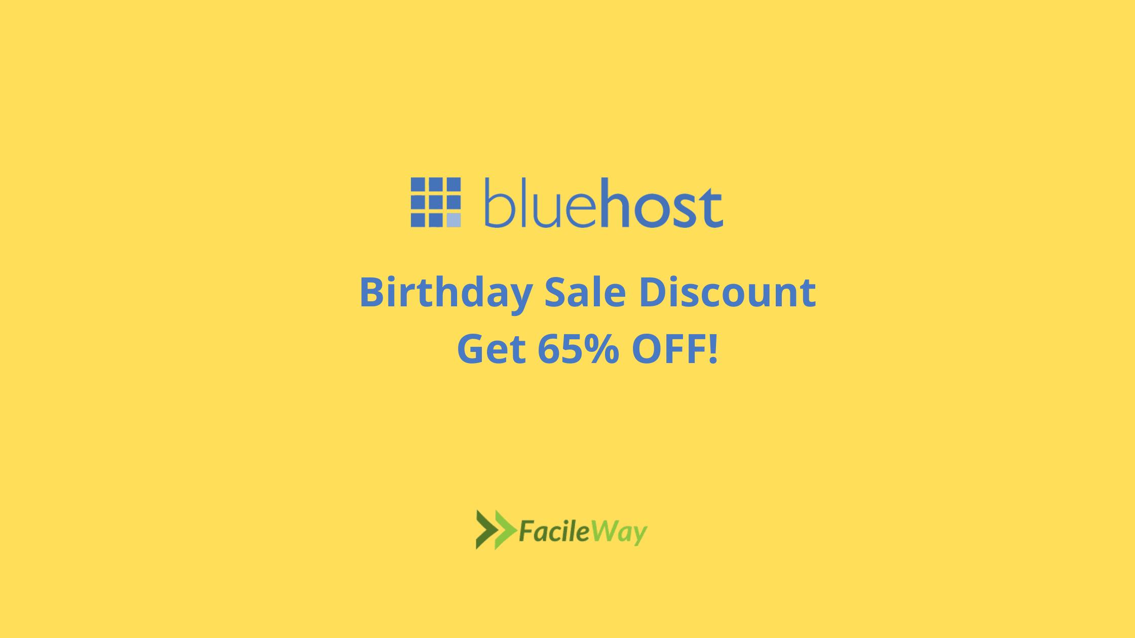 Bluehost Birthday Sale Offer