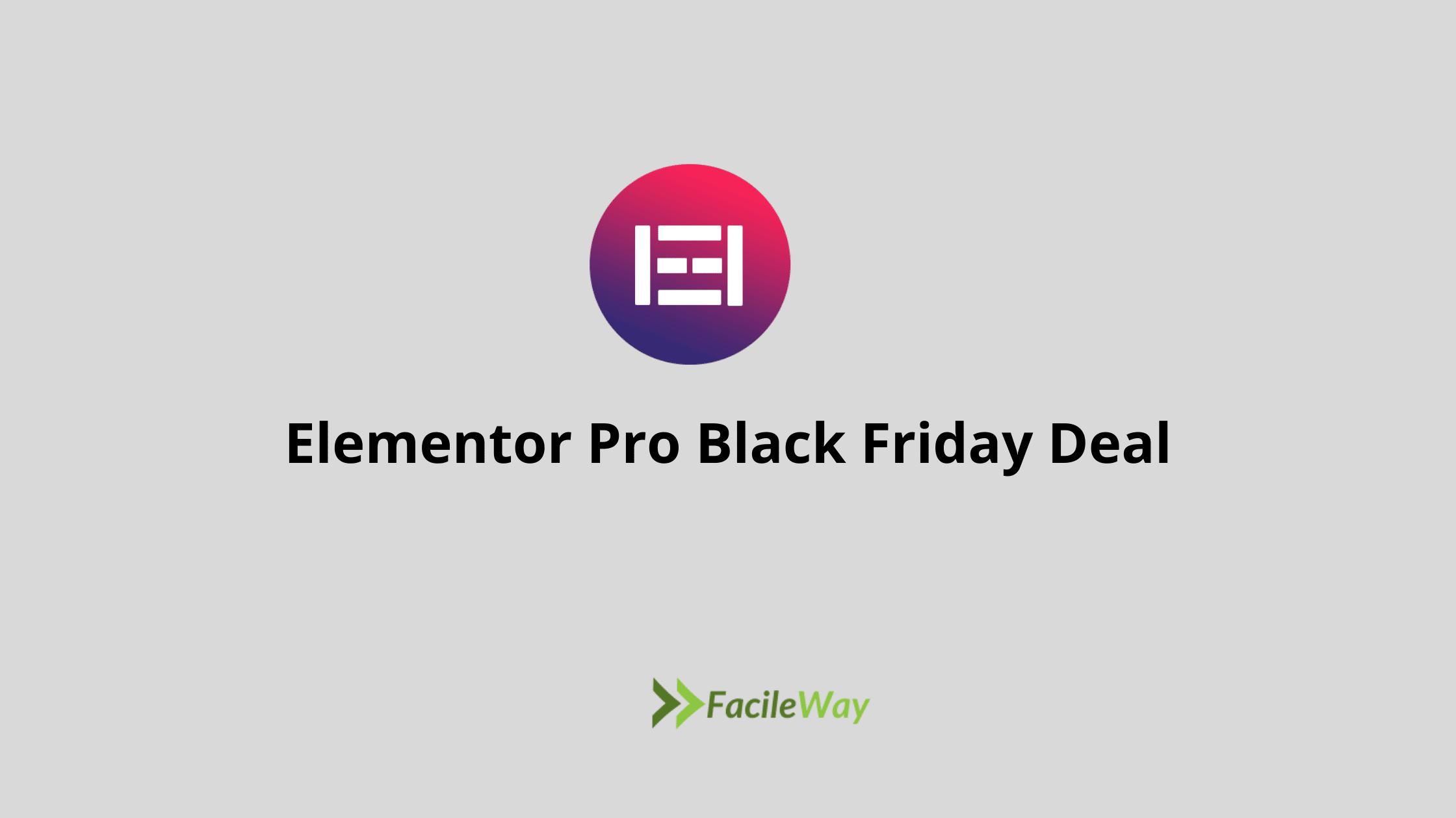 Elementor Pro black Friday Deal