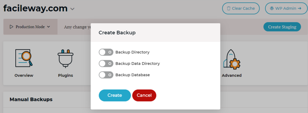 Rocket.net automated backup