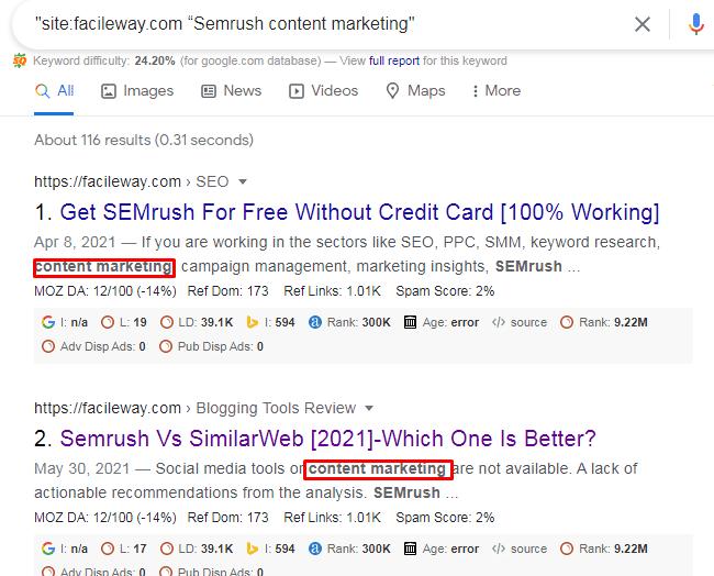 Semrush Content marketing toolkits