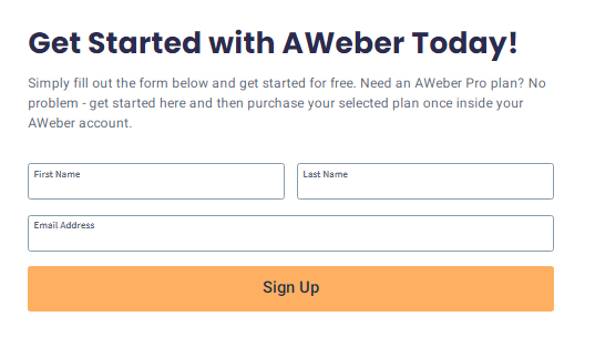 Get started with Aweber